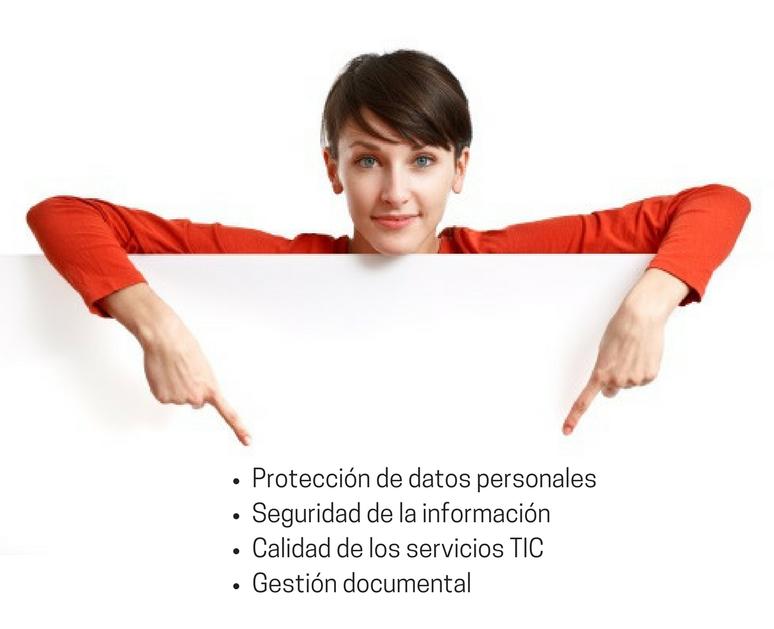 Copia de Protecció de dades personalsSeguretat de la informacióQualitat dels serveis TICGestió documental